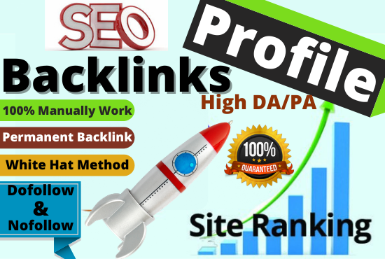 manually create 30+ DA90 Profile Backlinks boost website by authority link building