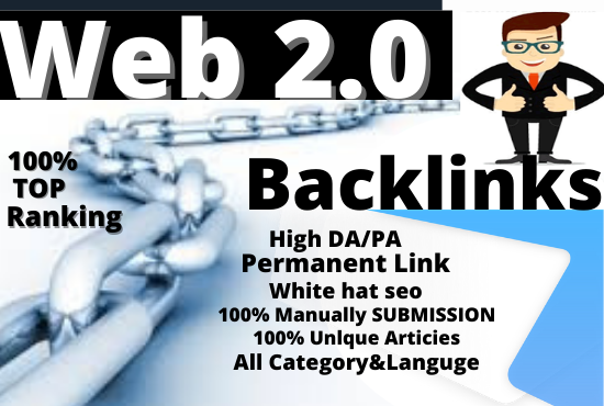 I Will do Manually Provide 30 High-Quality SEO web 2.0 Backlinks For Boost Ranking,  Link Building