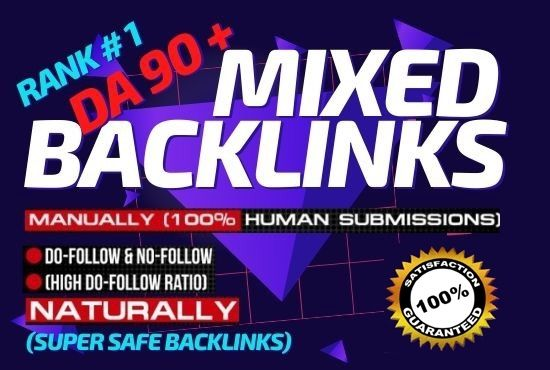 Manual 90+ Mixed Backlinks High Quality