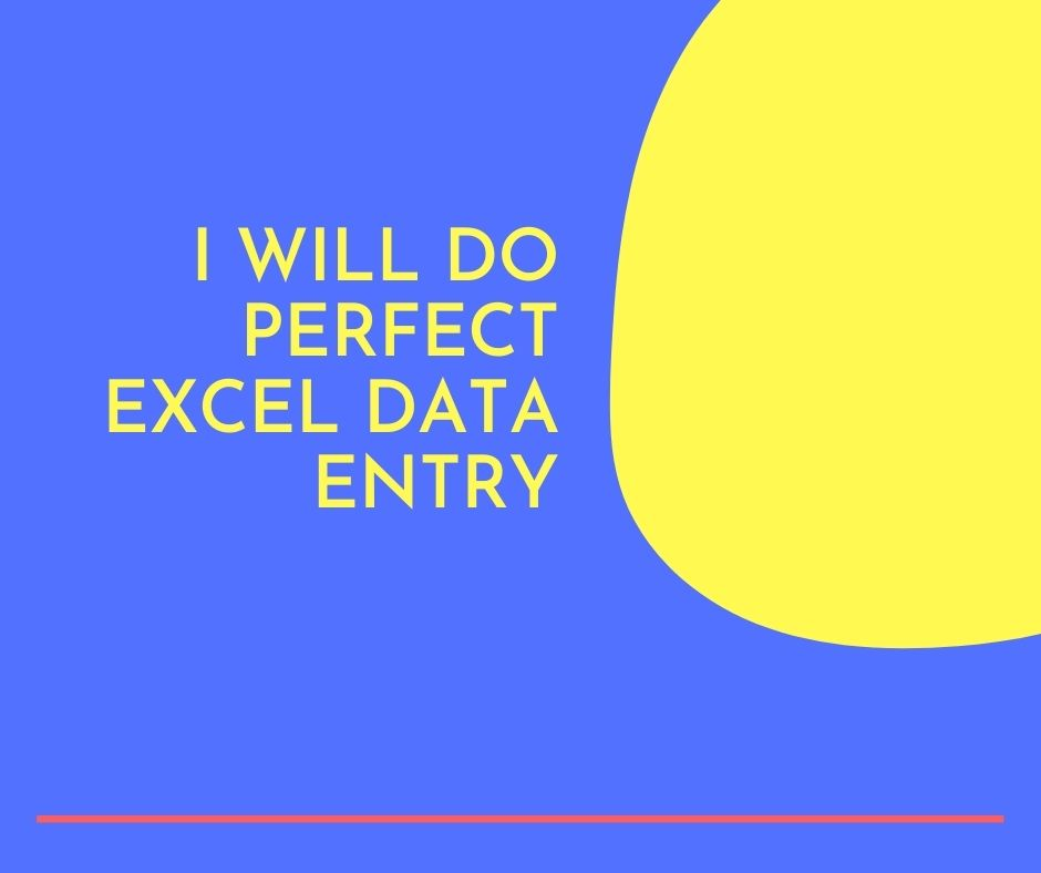 I will do Perfect Excel Data Entry