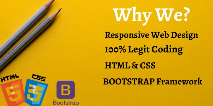 I will Design Responsive Website With 100 Legit Coding