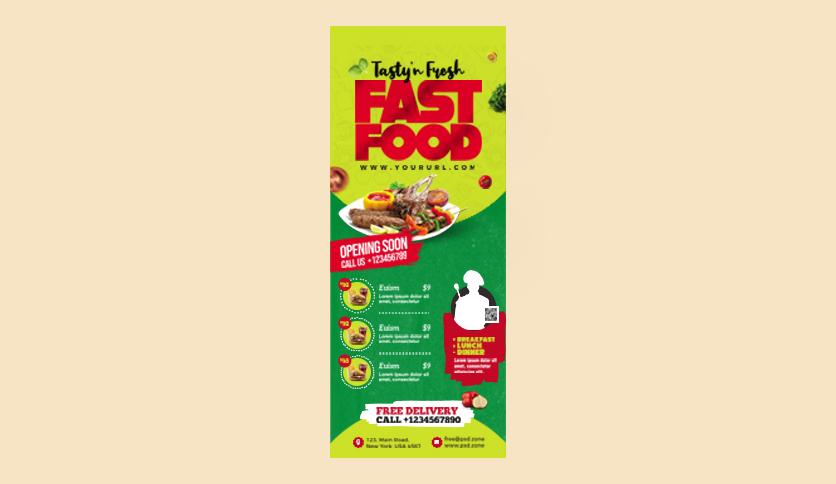 I will design food flyer or poster, restaurant menu