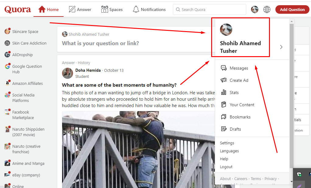 Promote website with HQ 15+ Quora answer with URL