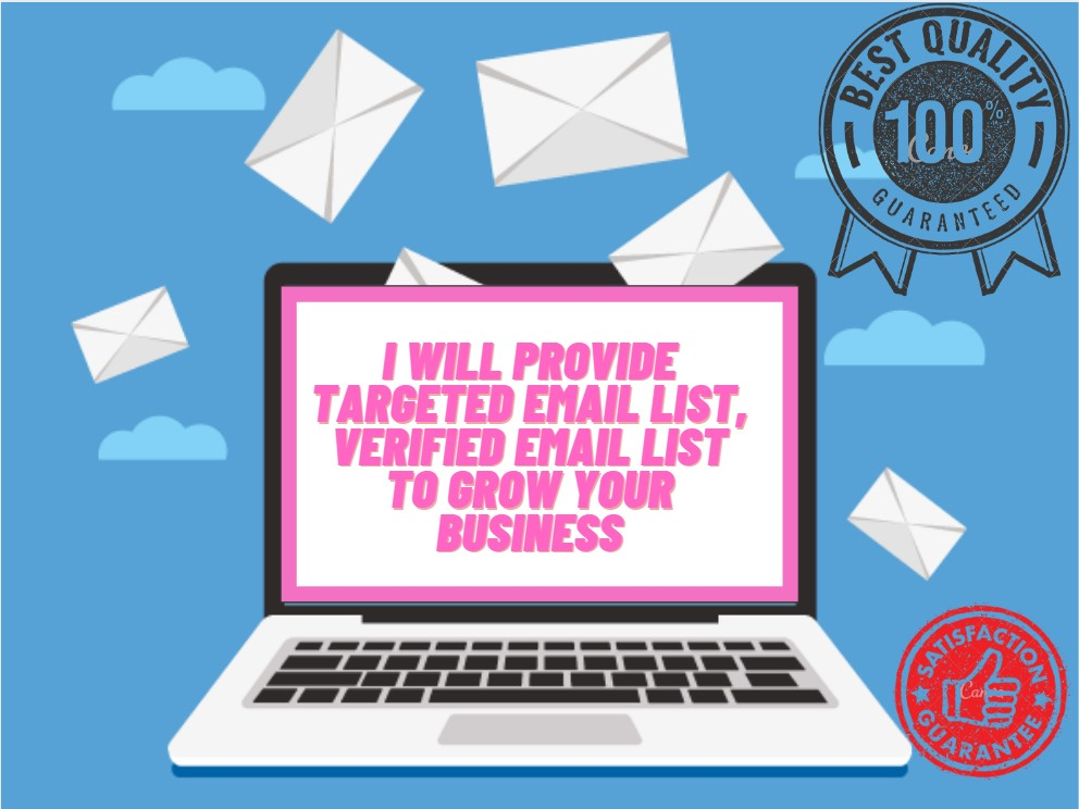 I will provide targeted email list,  verified email list to grow your business