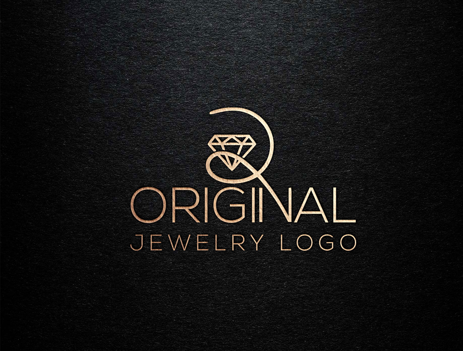 I will Do Unique Modern Jewelry Looking Logo Design