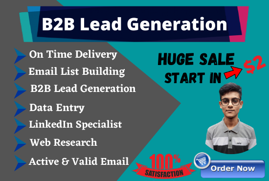 I will do b2b lead generation,  web research,  data entry for your business