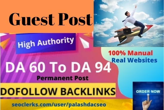 I will write and publish 10 guest posts from high DA websites