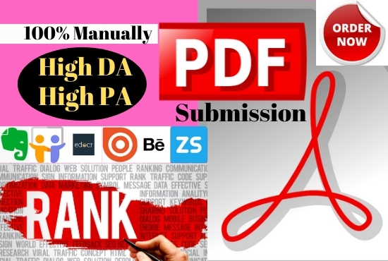 20 Best PDF submission or document sharing backlinks manually on high DA sites
