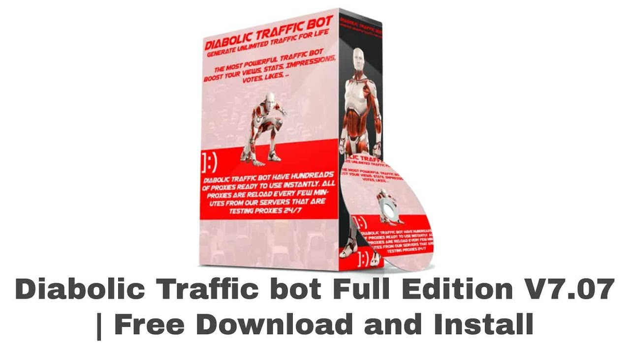 Diabolic Traffic Bot generates unlimited web traffic to any website,  video or blog