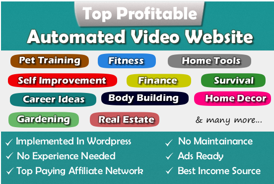 Fully Automated Website - Huge Profitable Niche - Newbie Friendly