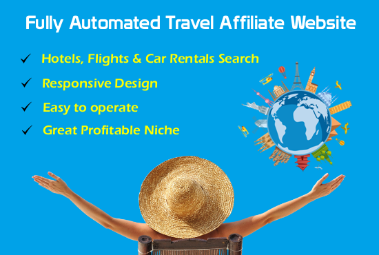 I will create fully automated travel website for income source