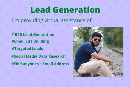 I will make B2B lead generation,  targeted leads and web research