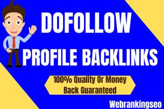 I will manually create 80 dofollow high quality profile backlinks for google top rankank