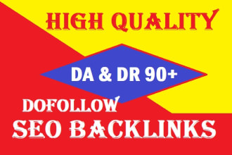 I will provide 50 DA & DR 90+ Dofollow Seo backlinks Boost your website top rank
