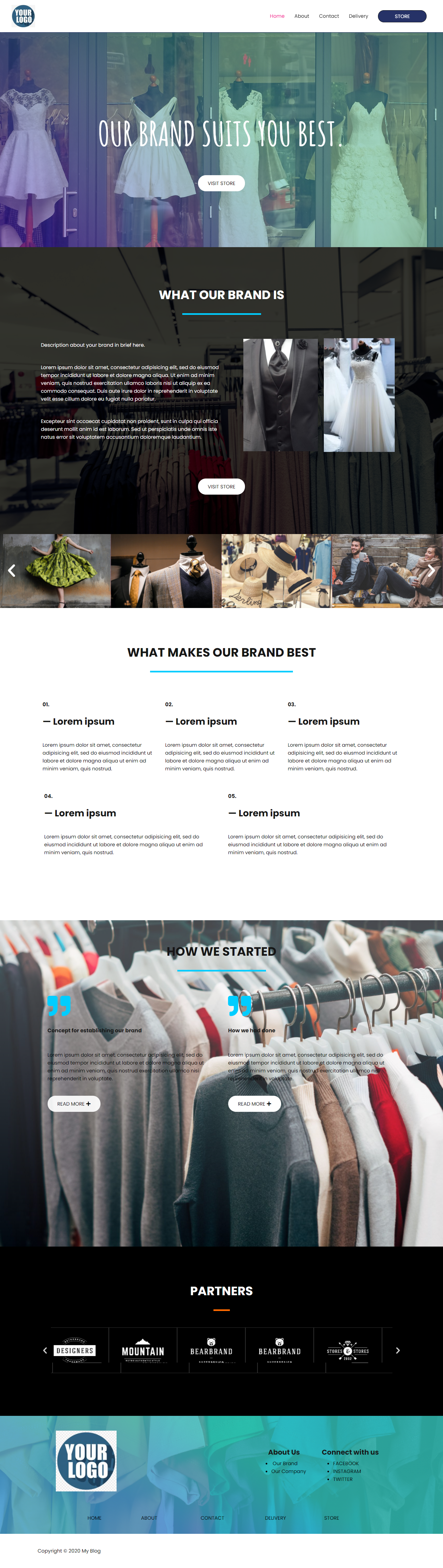 I will design a website for your Products, Brands, Organizations, etc