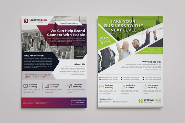 I will design amazing flyers brochures posters and rack cards