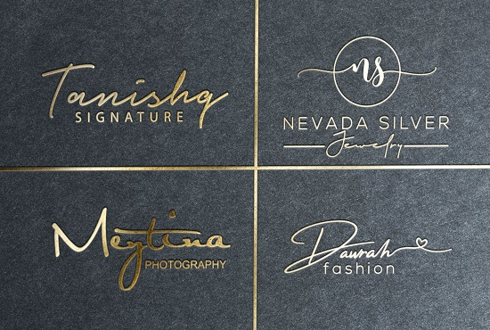 I will make signature logo for jewelry boutique fashion
