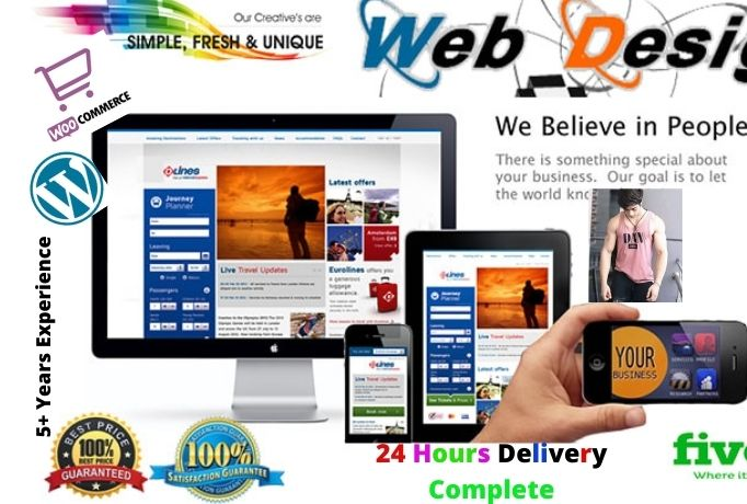 I will creat responsive wordpress News Portal,  woocommerce and any others website