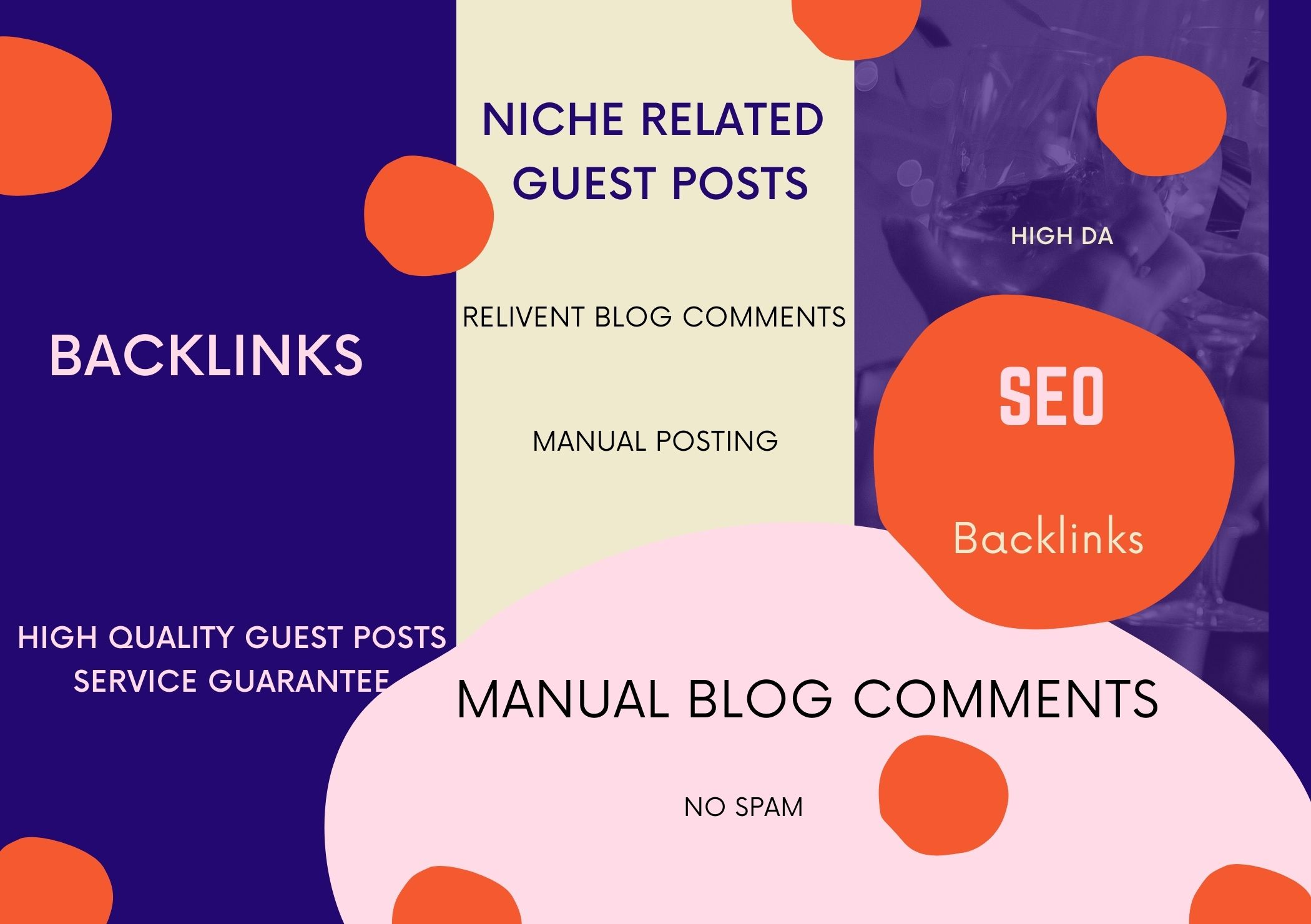 I will do Niche related manual blog comments and backlinks.