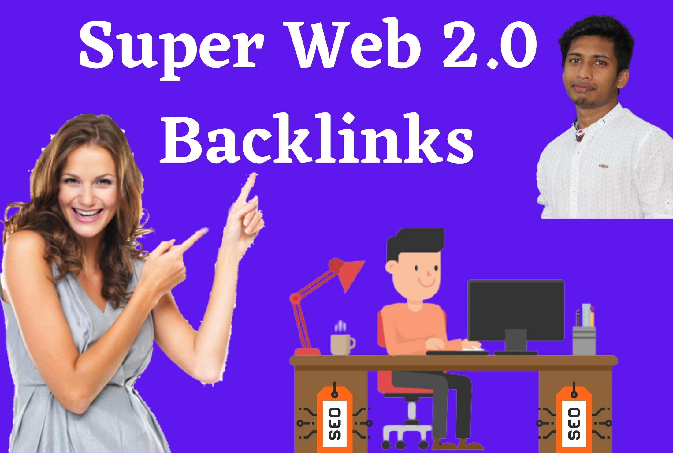 I will do 50 web2 0 contextual backlinks With High DA