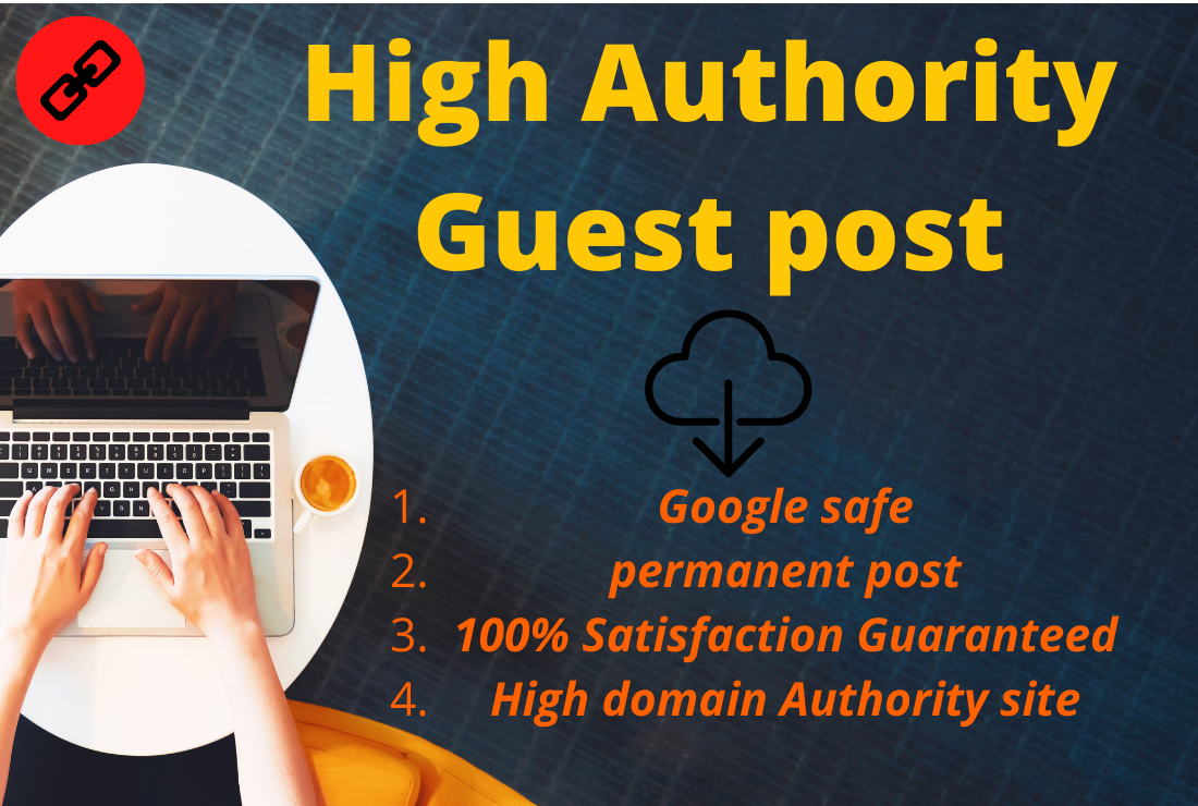 I will provide 5 guest posts on high da pa websites manually work