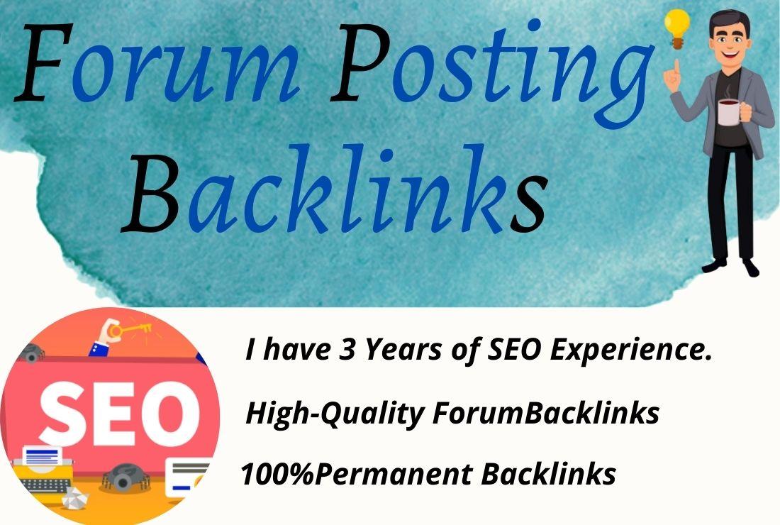 I will make manually 50 HQ forum posting backlinks