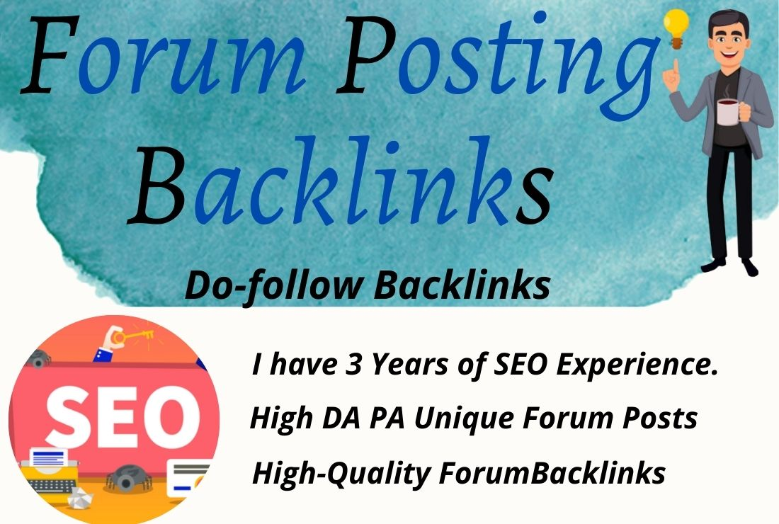 I will make 50 High Authority Forum Posting Backlinks For Real Trafflc and Rank