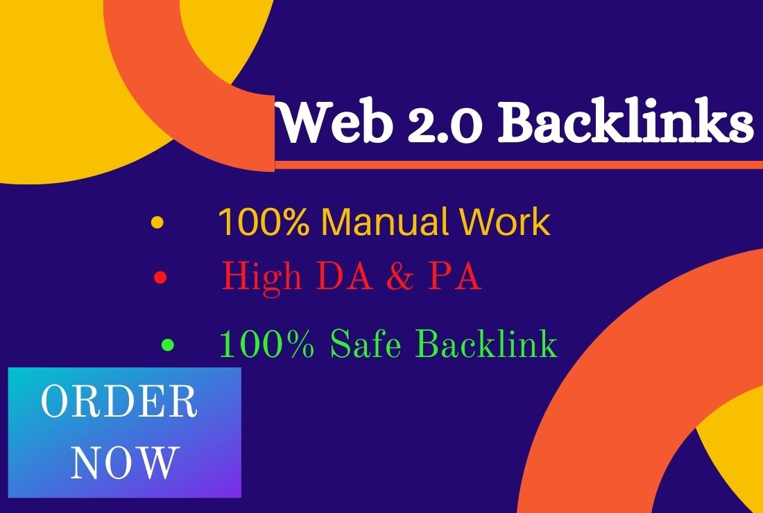 I will create 25 high authority web 2.0 Permanent Backlinks