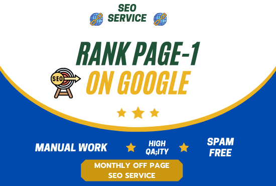 I will do rank your website with daily report monthly off page SEO service