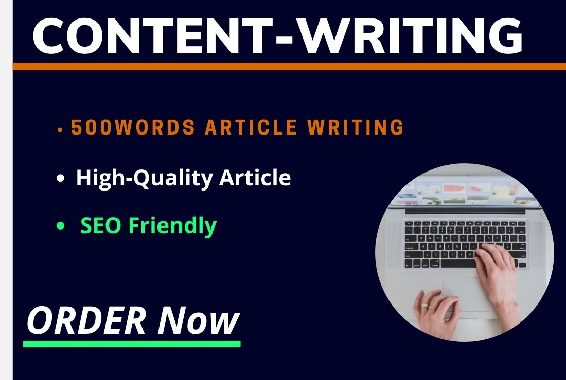 I will Write a unique Article / Blogpost for 500 words
