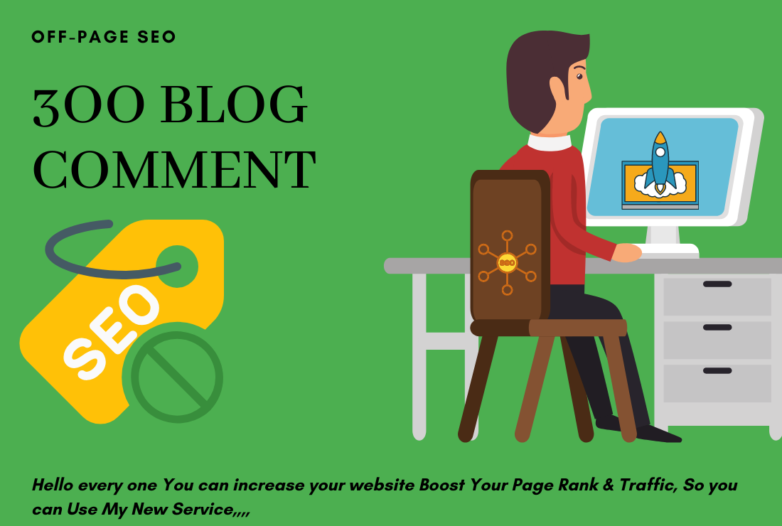 I will do 300 Niche high quality dofollow blog comments backlinks