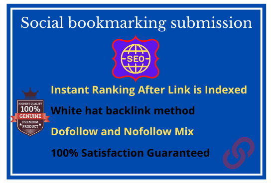 I will 50 Social bookmarking submission with high quality backlinks