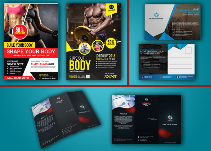 I will do Corporate flyer, brochure, postcard design in one day