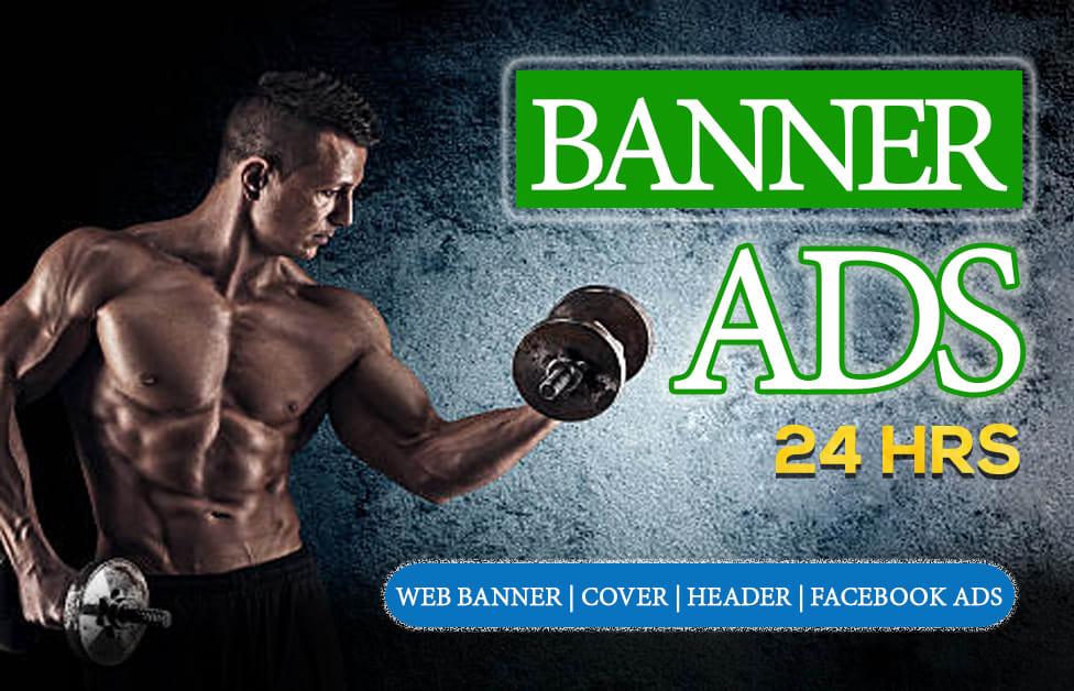 I will design a creative modern facebook cover or web header
