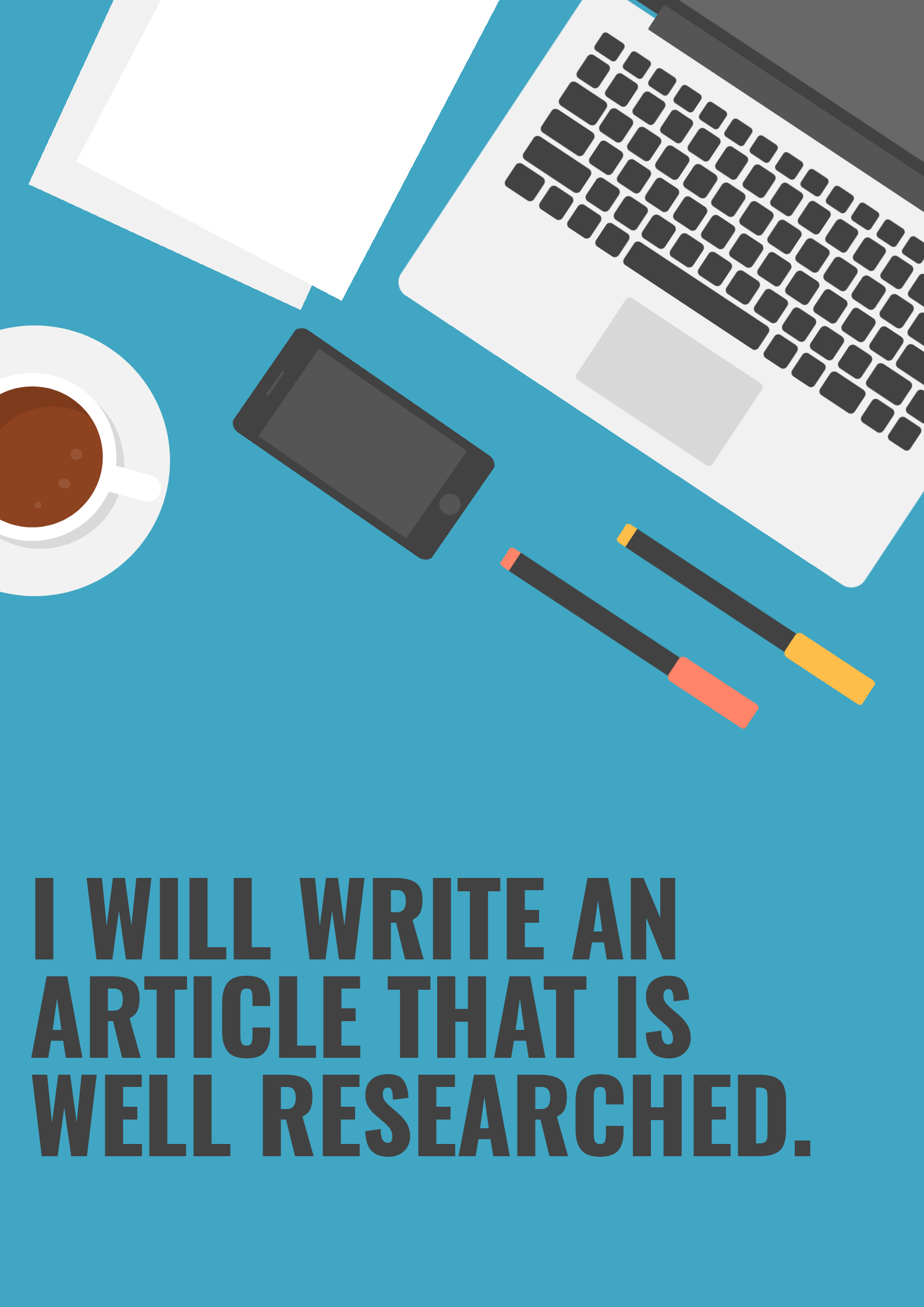 I will write and rewrite A well researched article