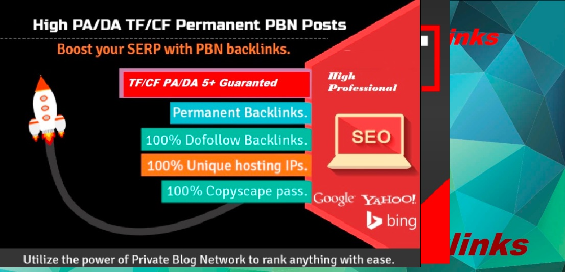 Create 5 High DA 30 to 50+ PBN Backlinks/PBN links for SERP To Boost Your Google Ranking