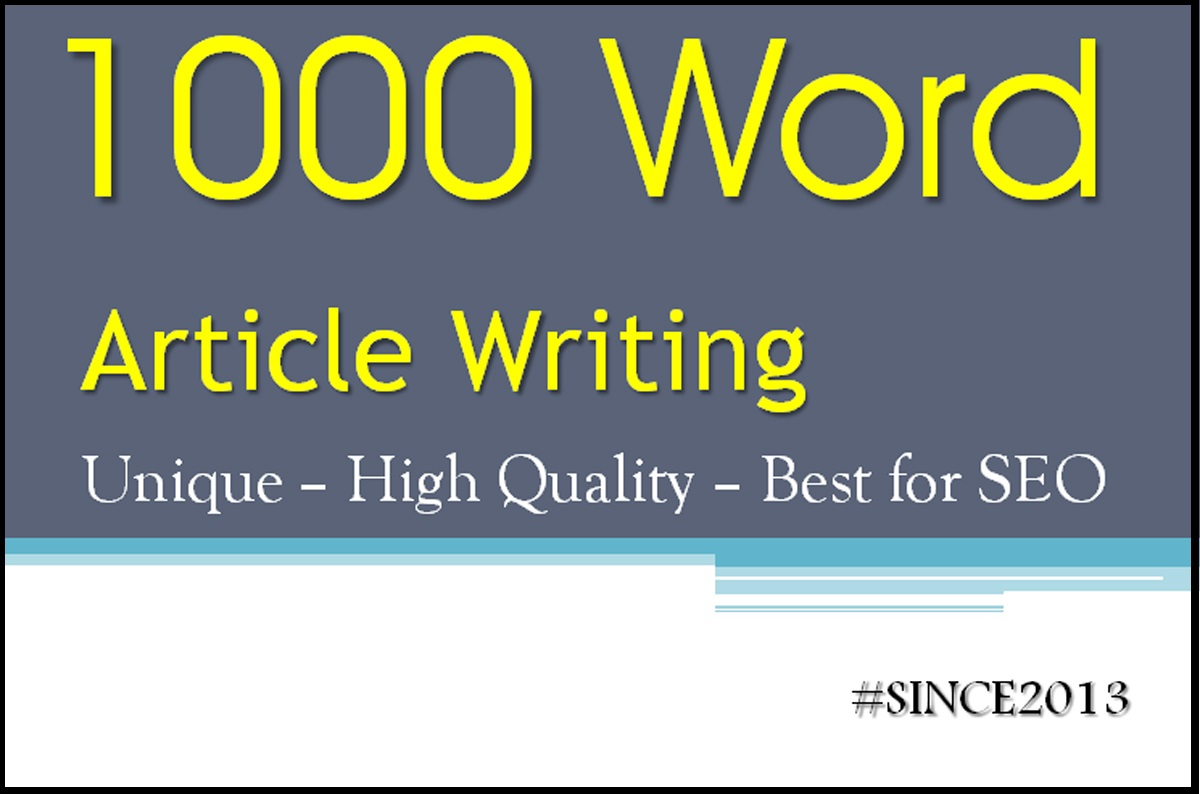 I will compose 1000 words blog or SEO article Delivery within 2 days or less