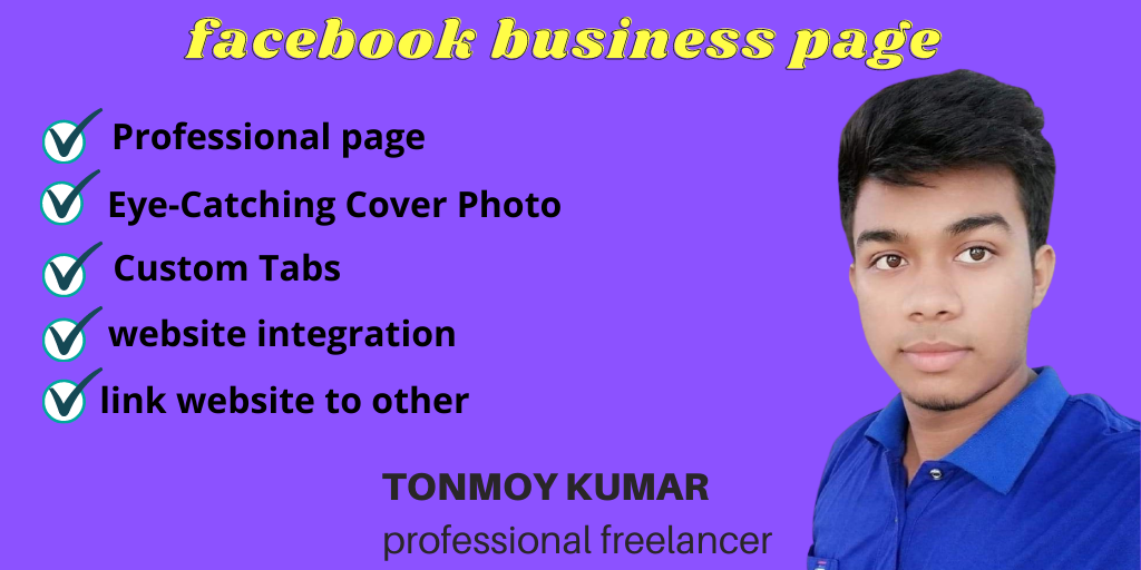 I will create, design and optimize facebook business page professionally