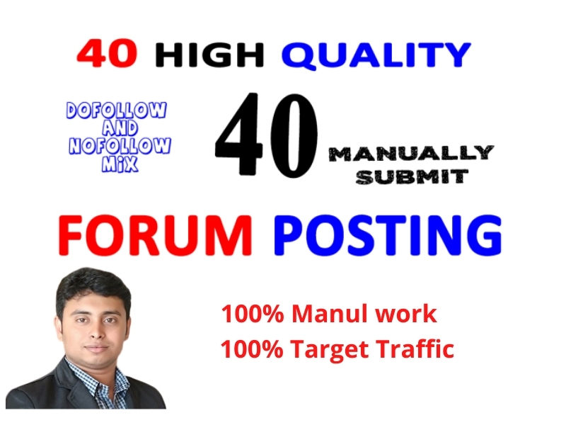 I will do 40+ high quality forum posting