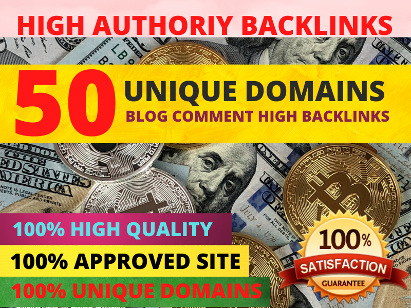 I will build 50 high quality backlinks using blog comments