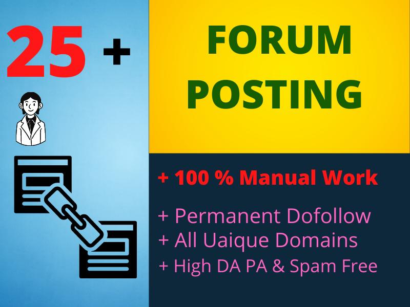 I will create forum posting backlinks