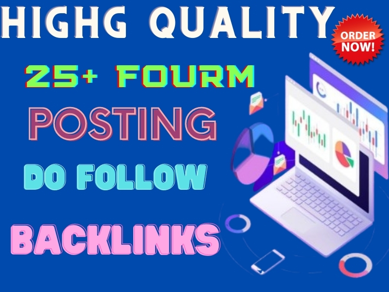 I will make 25 HQ forums posting manually in SEO backlinks