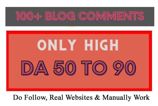 I Will Provide 100 High DA Blog Commenting Backlinks