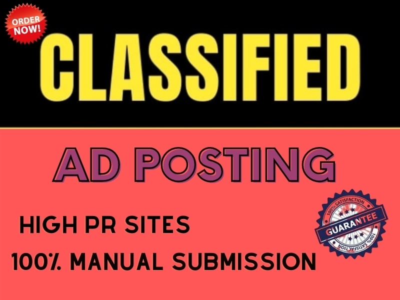I will Provide 100 High Quality Classified Ad Posting Sites