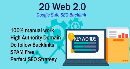 I Will Create High DA PA 20 Dofollow Manual Web 2.0 Backlinks