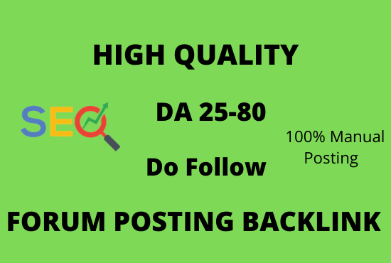 I will 100+ Create powerful dofollow Forum Posting backlinks