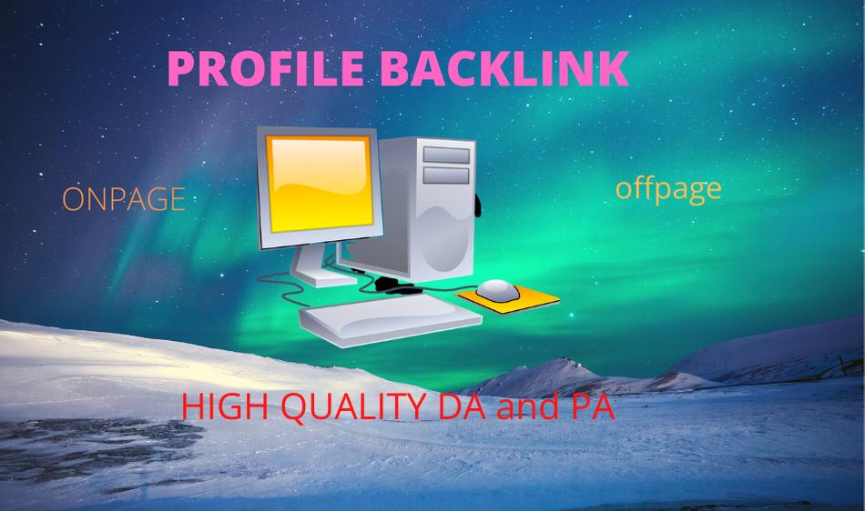 I will create 150 high authority follow profile