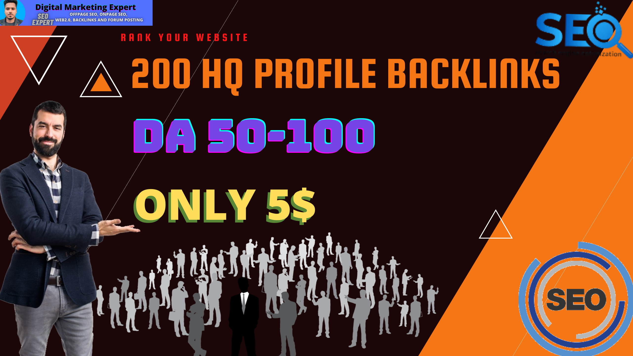 I will Provide 200 High DA Profile Backlinks Manually for SEO Ranking Your Business/Website
