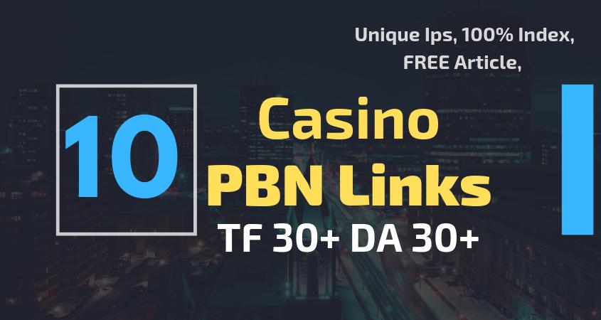 10 Casino Poker PBN Backlinks on HIgh Authority Sites