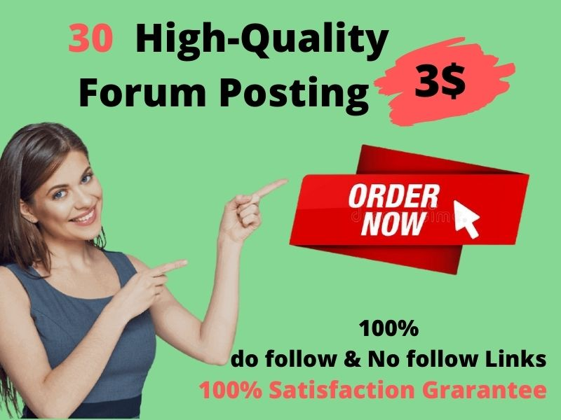 I Will create 30 High-Quality Forum Posting manually in SEO backlinks